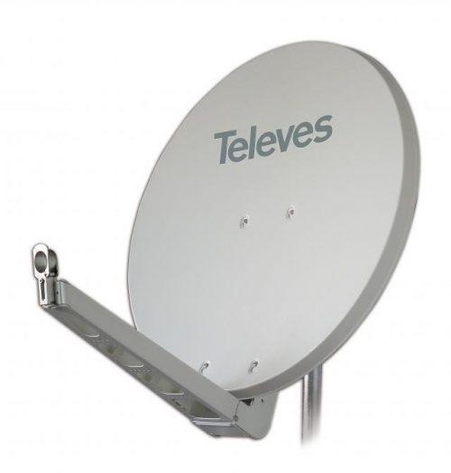 790304 Televes 85 Cm Aluminium Schotel Qsd Wit 39.5db