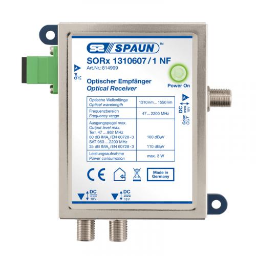 814999 Spaun Sorx 1310607 1 Nf Np Optische Receiver 1 In 1 Out