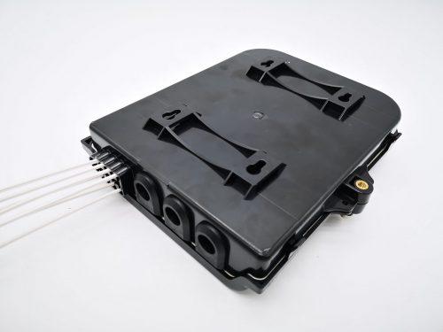 Optische buitenbehuizing 8 x glasvezel - wand en mastmontage