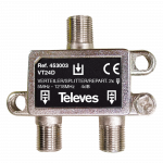 453003 Televes 2 Weg Splitter 5 1218mhz 4db